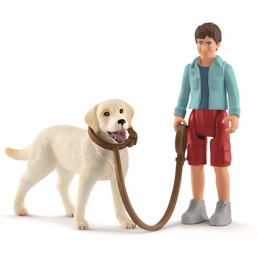 Schleich Spaziergang mit Labrador Retriever 42478