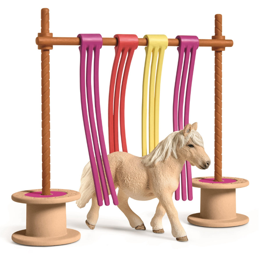 Schleich Figurine rideaux pour poney 42484