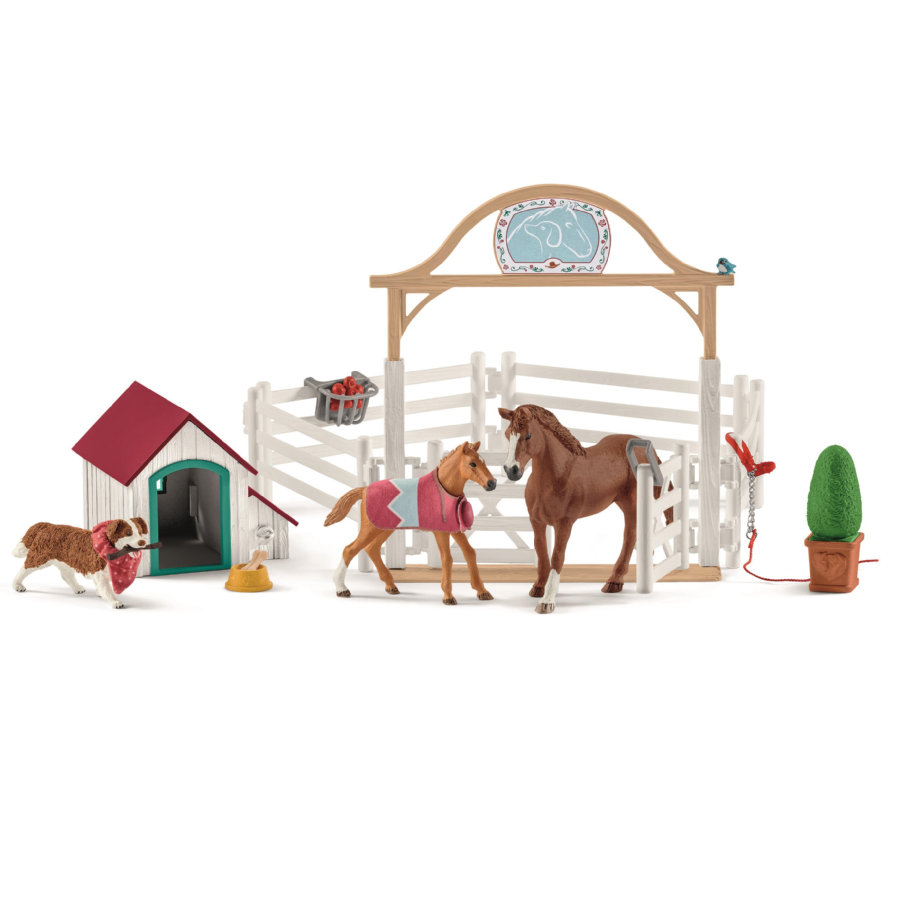 Schleich Horse Club Hannahs gastpaarden met hond Ruby 42458