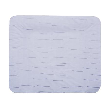 Alvi Materassino per fasciatoio con rivestimento, righe blu 70 x 85 cm