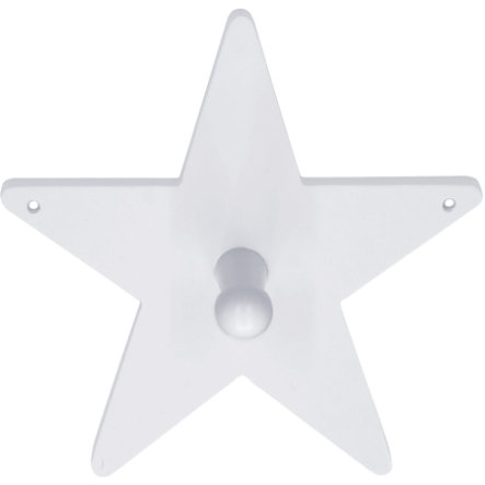 KIDS CONCEPT Coat Hook Star, white 14 x 14 cm