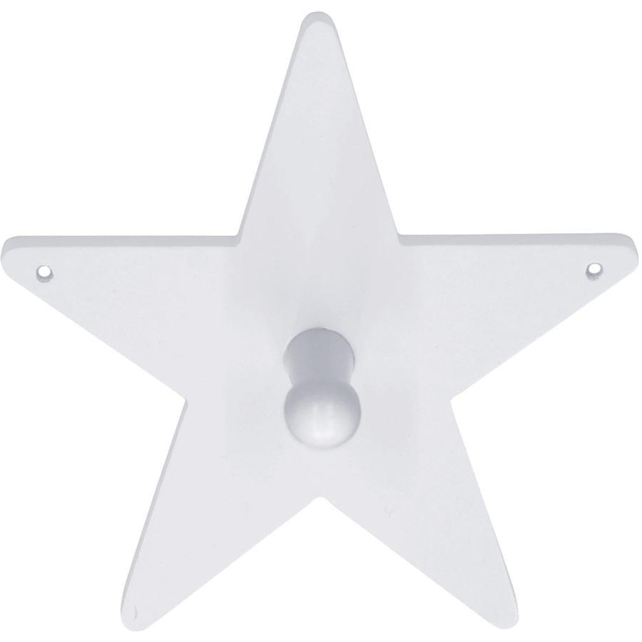 KIDS CONCEPT Portemanteaux, Étoile, blanc, 14 x 14 cm