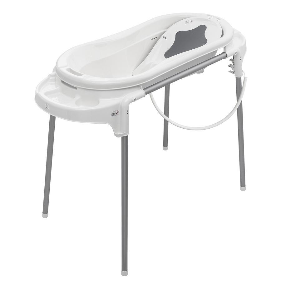 Rotho vaschetta da bagno con supporto Top Xtra bianca