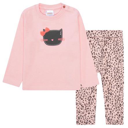 STACCATO pyjama 2-delige blush melange en blush patroon in 2 delen