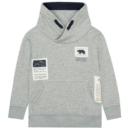 STACCATO boys genser varm grå melange