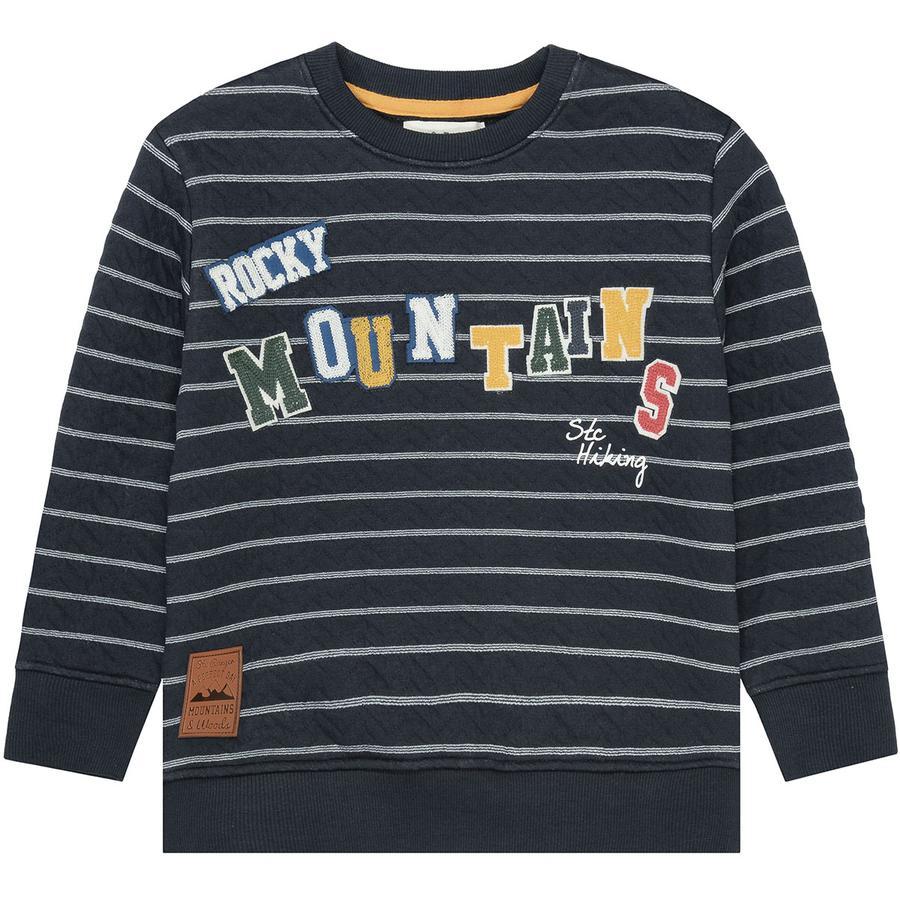 STACCATO  Sweatshirt til drenge mørk mid night  structure