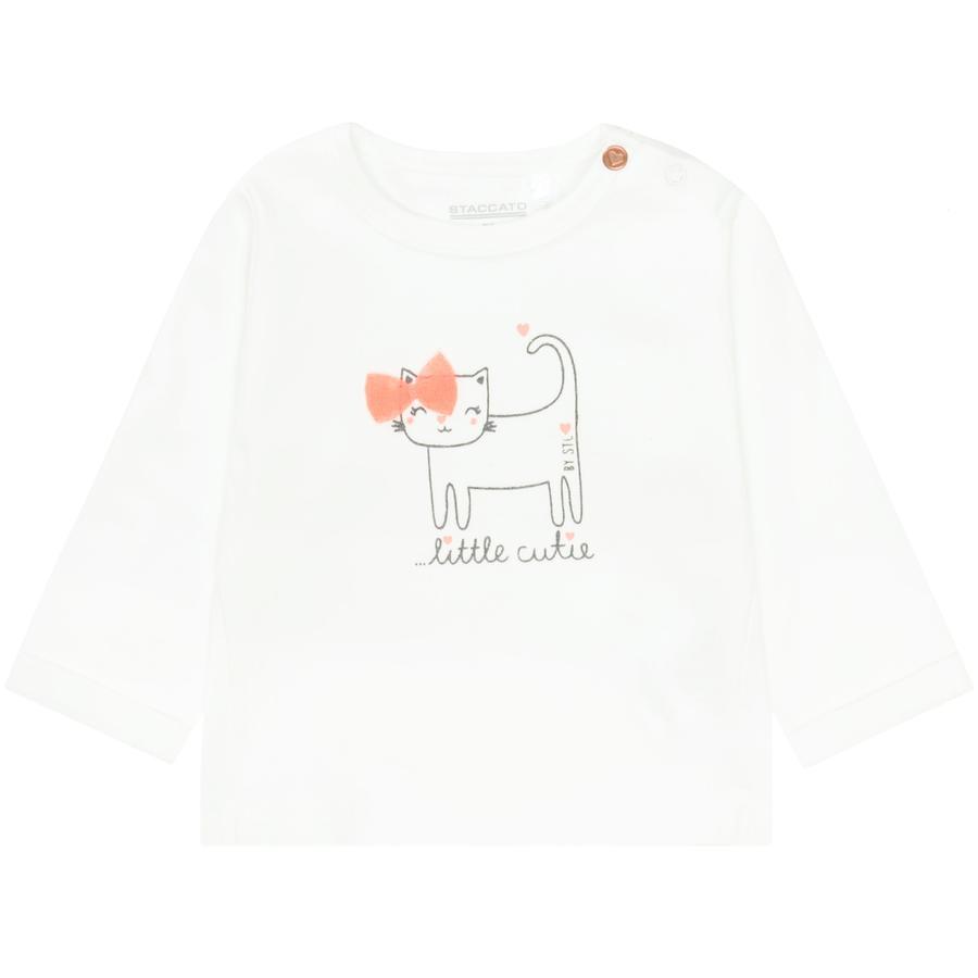 STACCATO Girl s camisa de manga larga de color blanquecino