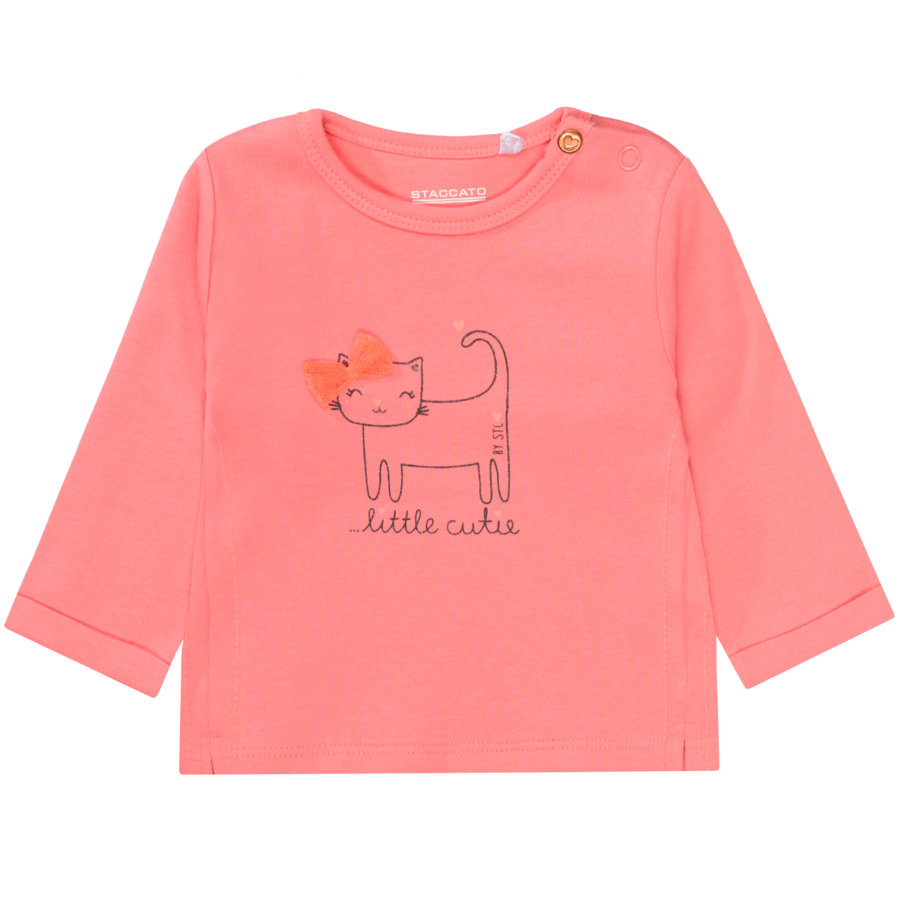 STACCATO Girl s shirt met lange mouwen soft roze