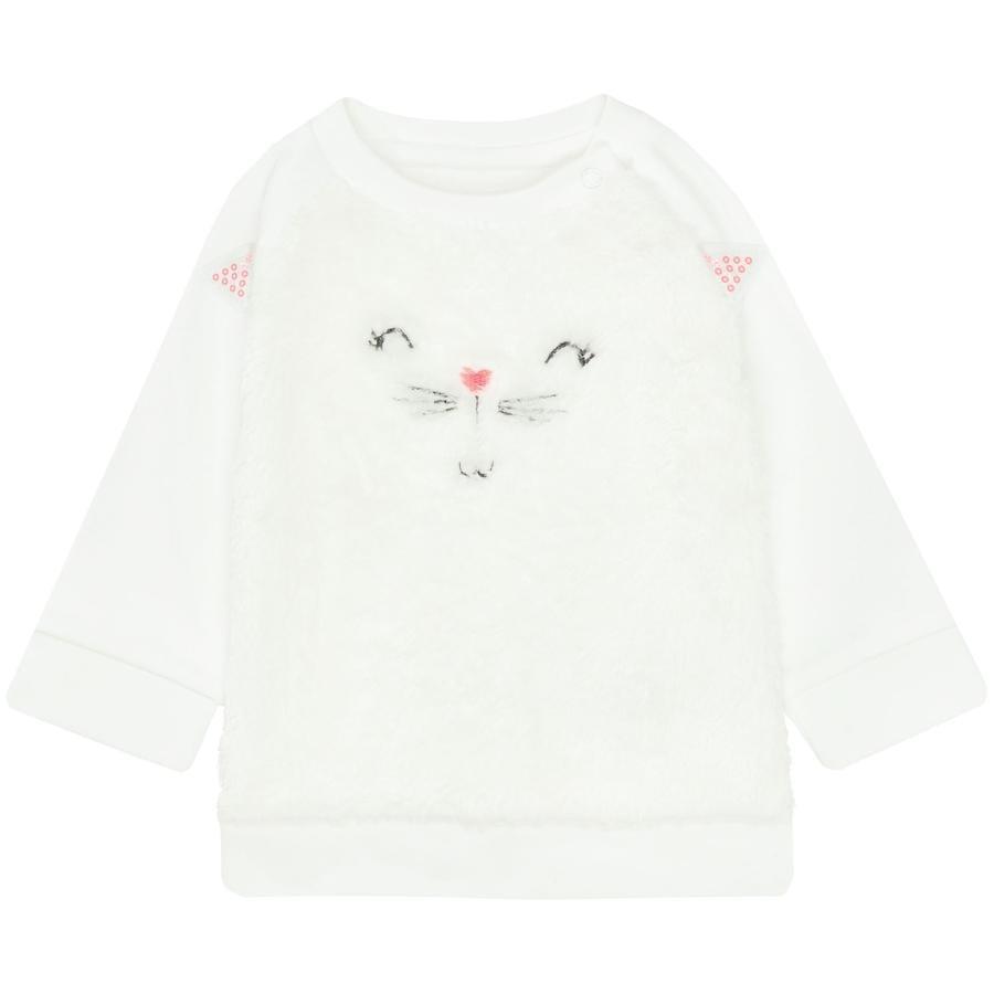 STACCATO Girl s sweatshirt en peluche blanc cassé