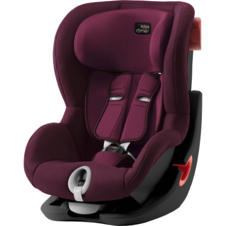 Britax Bilbarnstol King II Black Series Burgundy Red