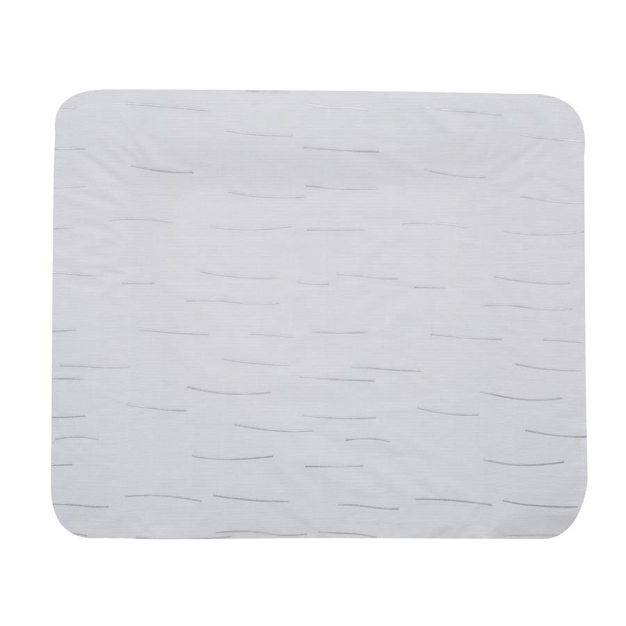 Alvi Materassino per fasciatoio con rivestimento, righe grigio 70 x 85 cm