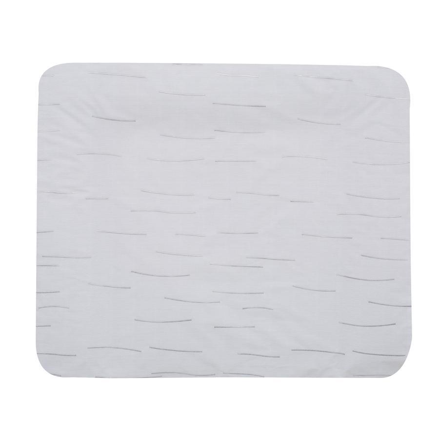 Alvi Wickelauflage mit Bezug, Stripes grey 85 x 70 cm