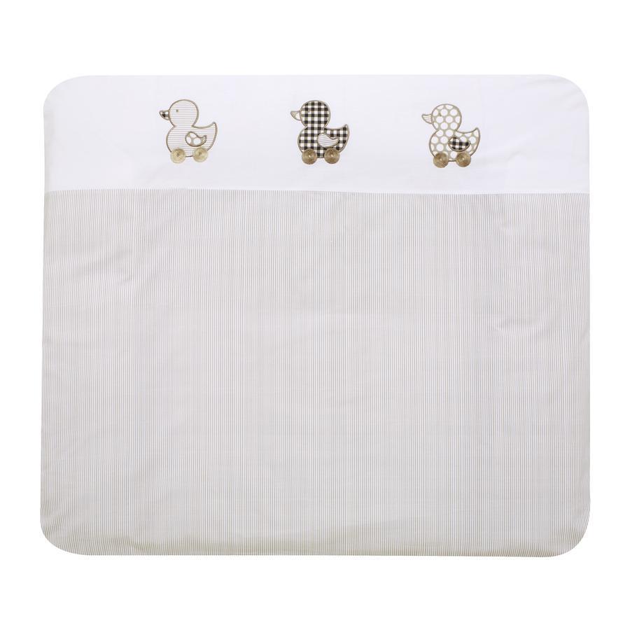 Alvi Materassino per fasciatoio con rivestimento, Paperella beige 70 x 85 cm