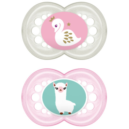 MAM Original Silicone Pacifier / Dummy 16+ Months for Girls