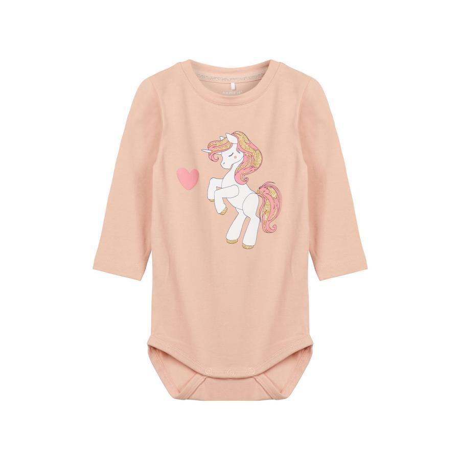 name it Girls Langarmbody Pony rose cloud