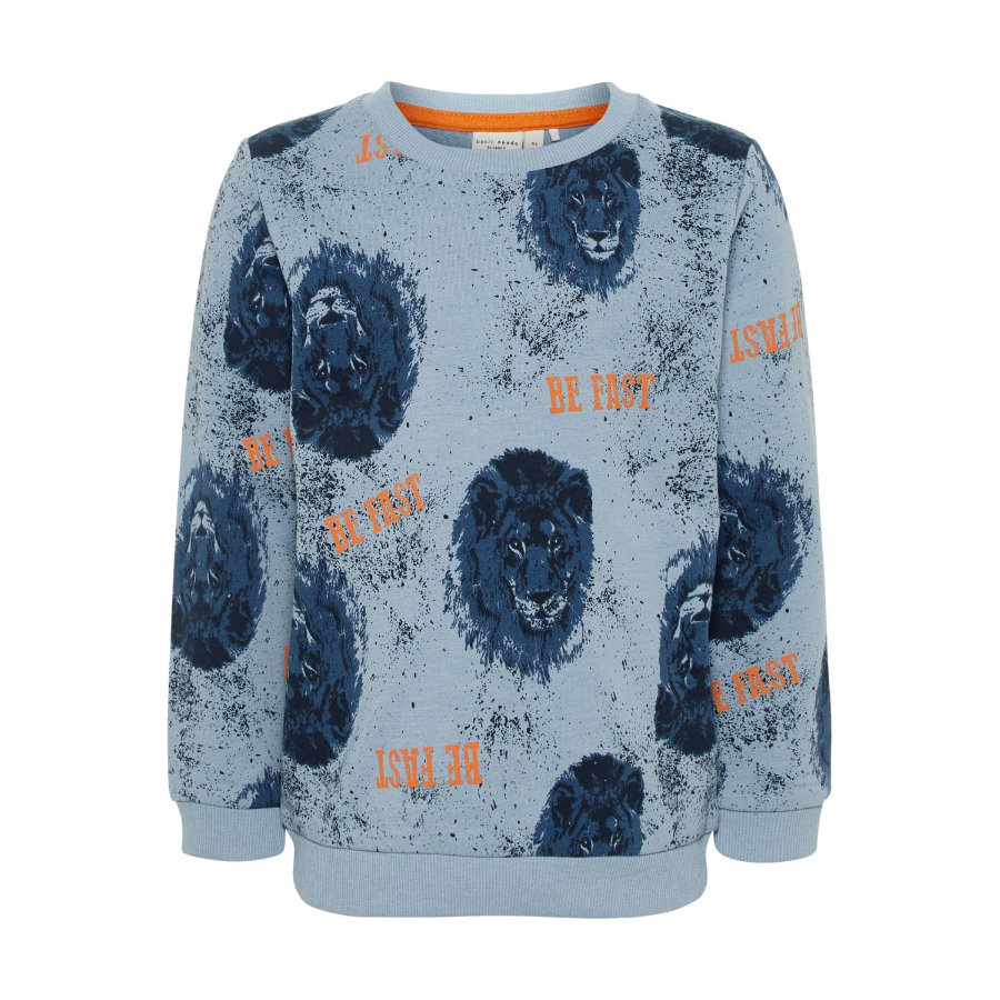 name it Boys Sweatshirt Valexander stoffig blauw