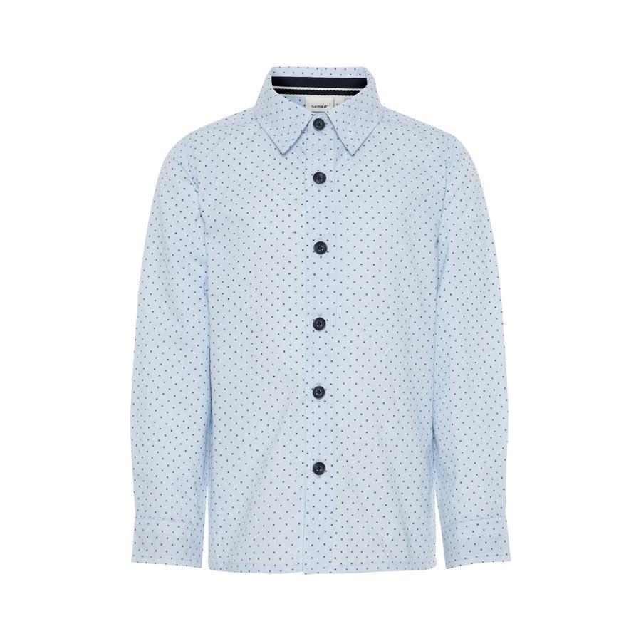 name it Boys Shirt Beschuit donker saffier