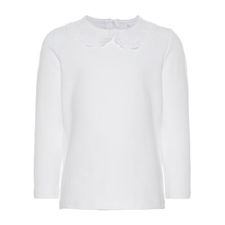 NAME IT Tyttöjen pitkähihainen paita b oikea valkoinen