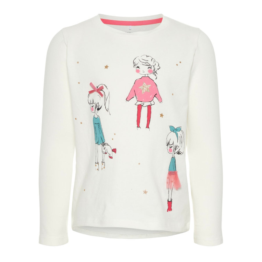 name it Girl s Chemise manches longues Ra girl blanc neige