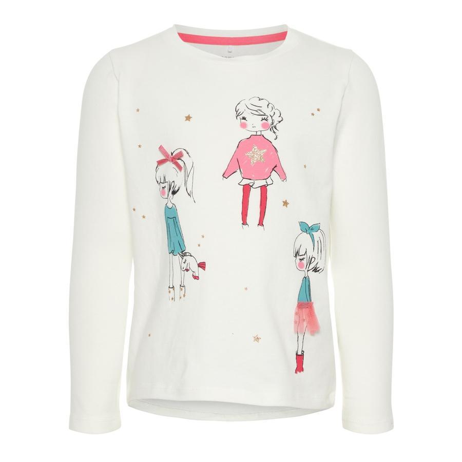 NAME IT Girls Pitkähihainen paita Ragirl lumivalkoinen