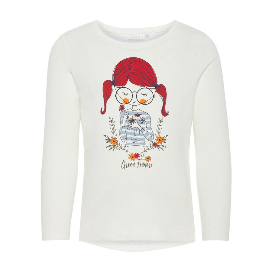 name it Girl s Overhemd met lange mouwen Veen sneeuwwitte Veen