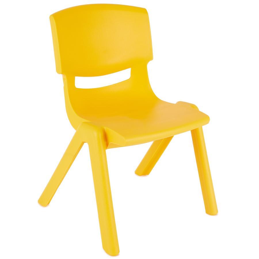 BIECO Dětská židle z plastů, žlutá