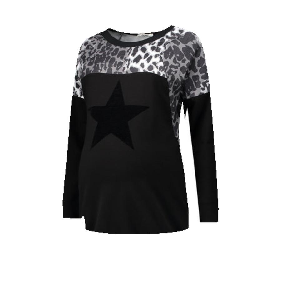 LOVE2WAIT Stillsweatshirt Zwierzęca czerń