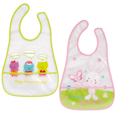 FILLIKID 2x Bibs Set pink/green