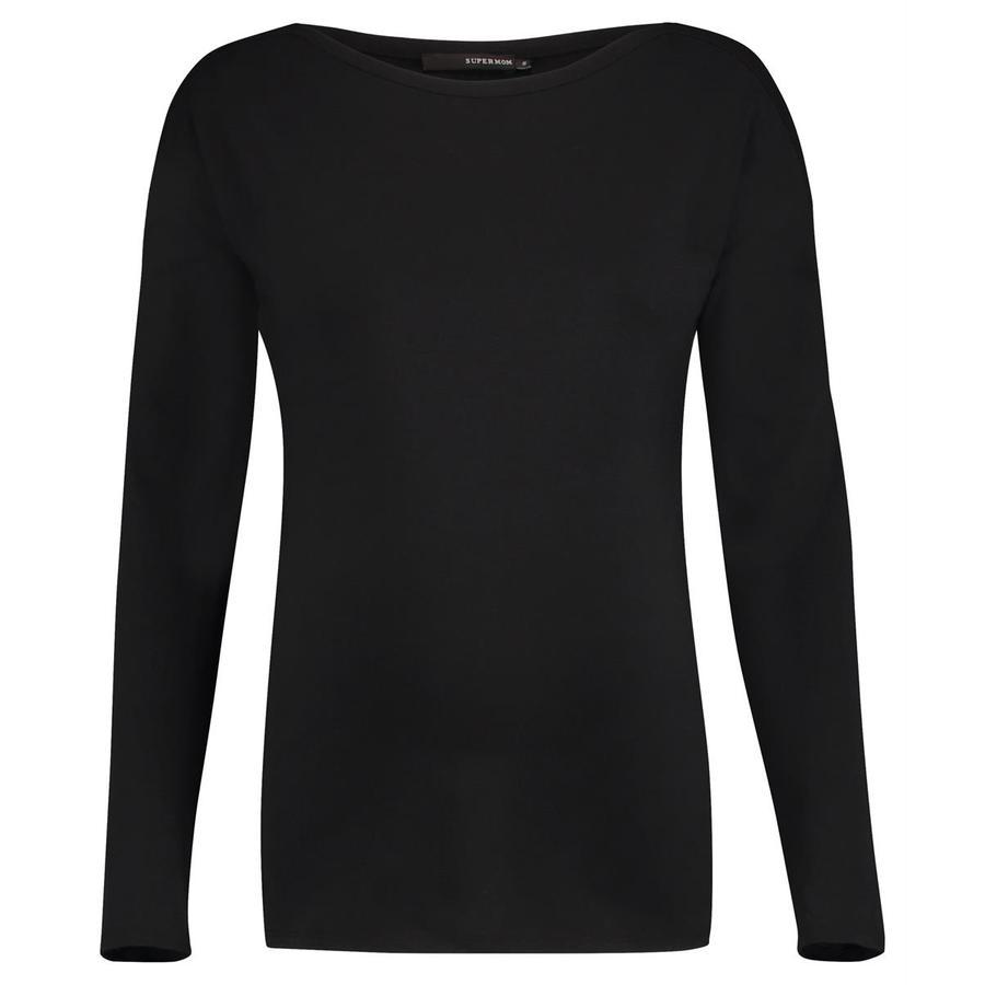 SUPERMOM Langarmshirt Basic Black