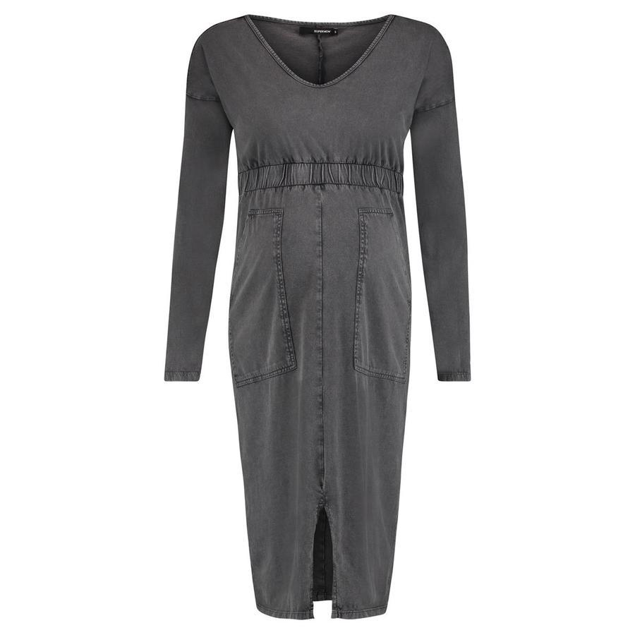 SUPERMOM Těhotenské šaty Acid Grey