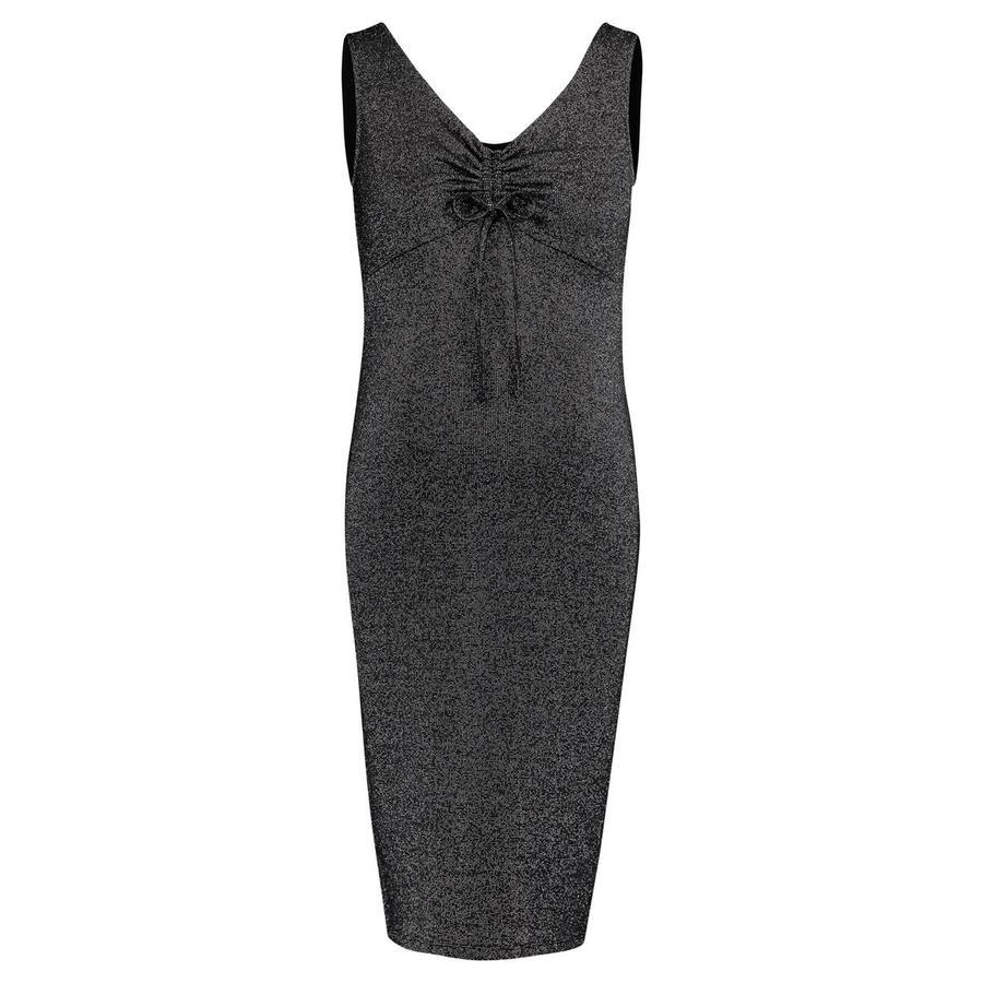 SUPERMOM Sukienka ciążowa Błyszcząca czarna