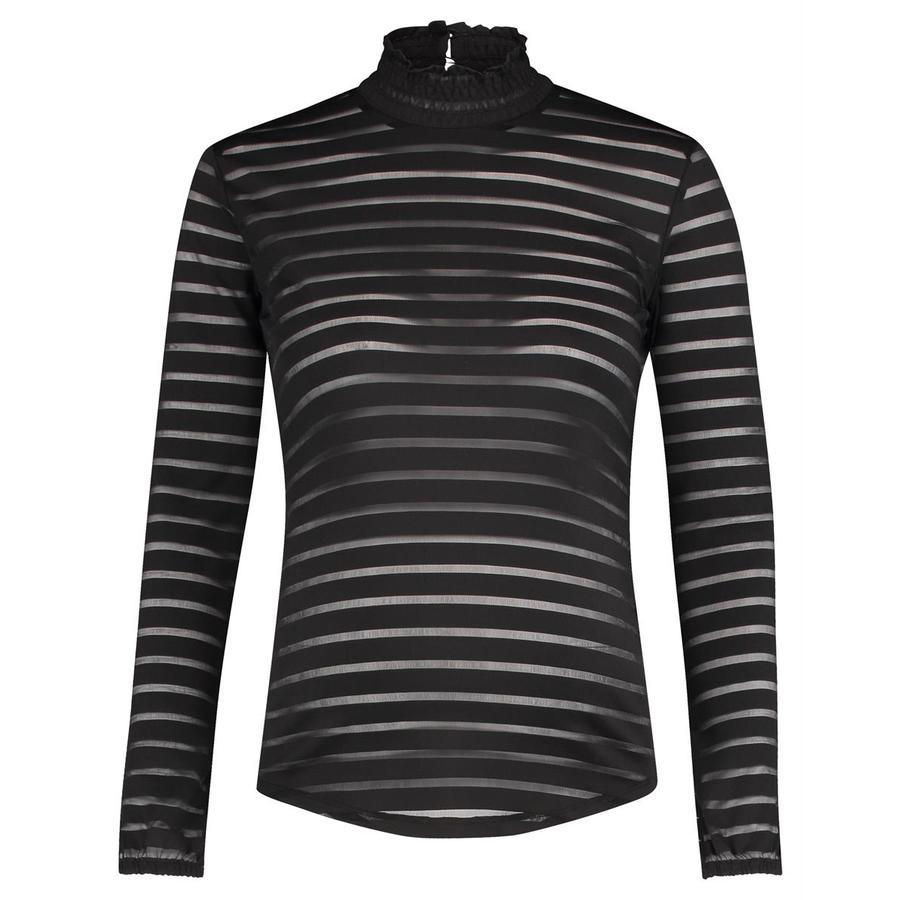 SUPERMOM Langarmshirt Striped Mesh black