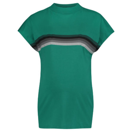 SUPERMOM T-shirt Stripe Bright Green