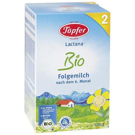 Töpfer Bio Folgemilch Lactana 2 600 g nach dem 6. Monat