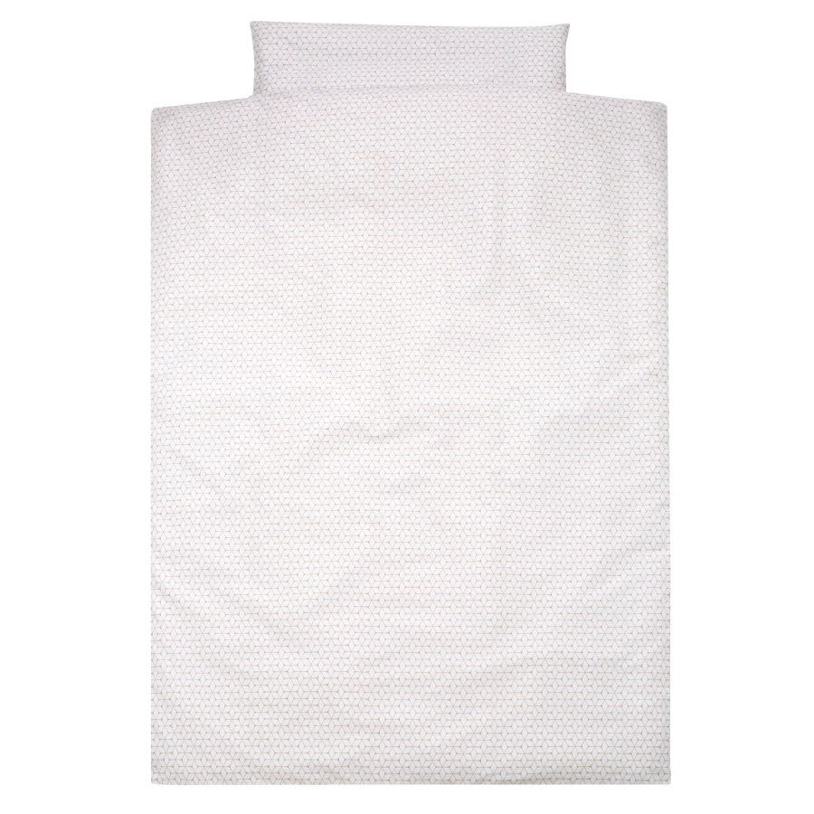 Alvi Ropa de cama 100 x 135 cm, Rombo taupe