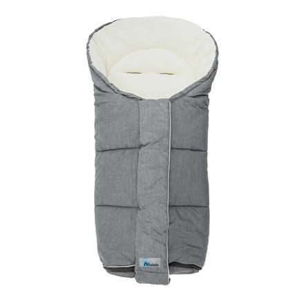 Altabebe Saco cubrepiés Alpin para cochecito y silla de paseo gris claro/blanco lavado