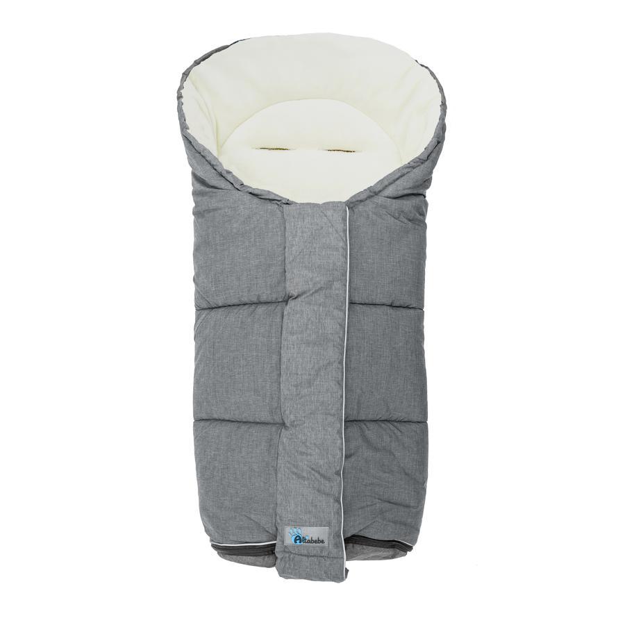 Coprigambe invernale Altabebe Alpin adatto per buggy e carrozzina white lavaggio grigio chiaro