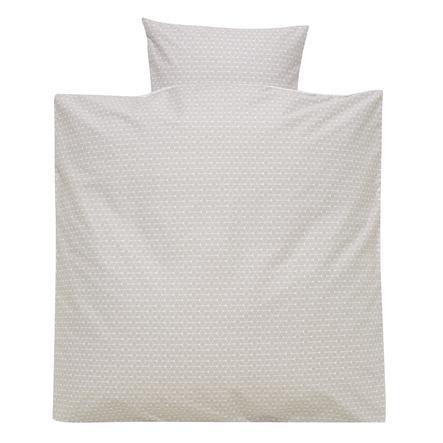 Alvi® Parure de lit enfant losanges taupe, 80x80 cm