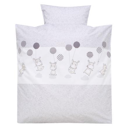 Alvi Ropa de cama 80 x 80 cm, Hipopótamo plateado