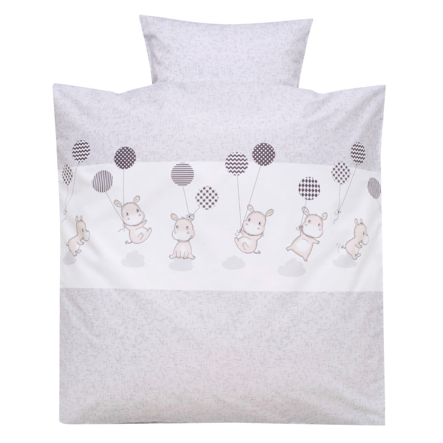 Alvi Biancheria da letto 80 x 80 cm, Hippo argento