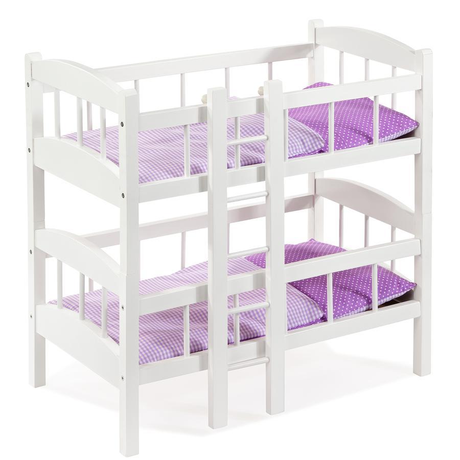 howa®  Łóżko piętrowe dla lalek z drabinką