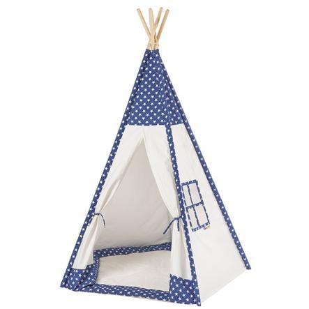 howa® Tipi enfant Tom, tapis étoiles bleu