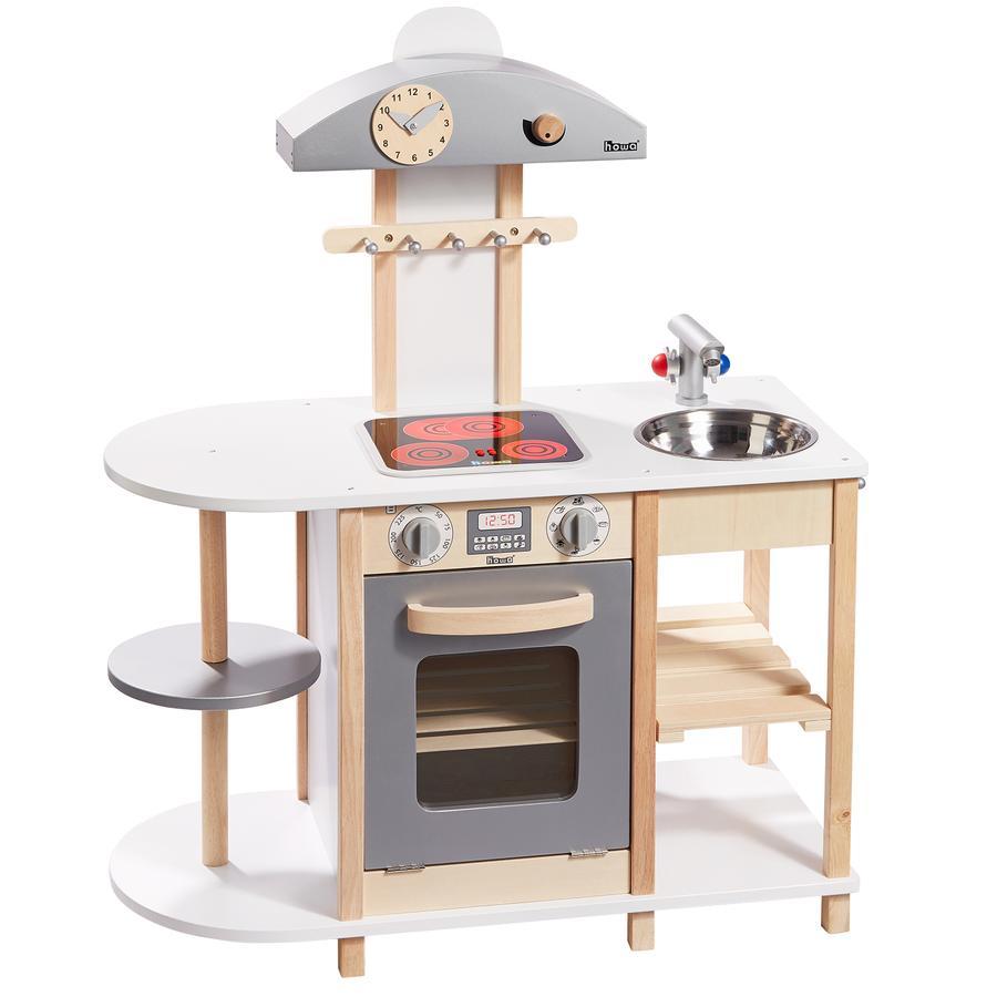 howa® Cuisine enfant Deluxe, plaques LED, bois