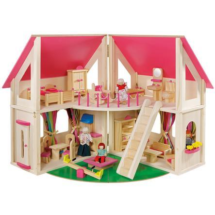 howa® Casetta delle bambole richiudibile, inclusi accessori