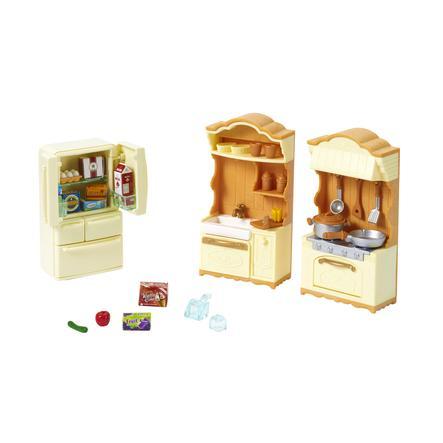 Sylvanian Families® Figurine maison de campagne cuisine, réfrigérateur 5341