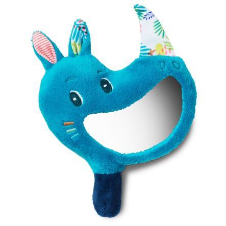 Lilliputiens Hochet miroir Marius le rhinocéros bleu