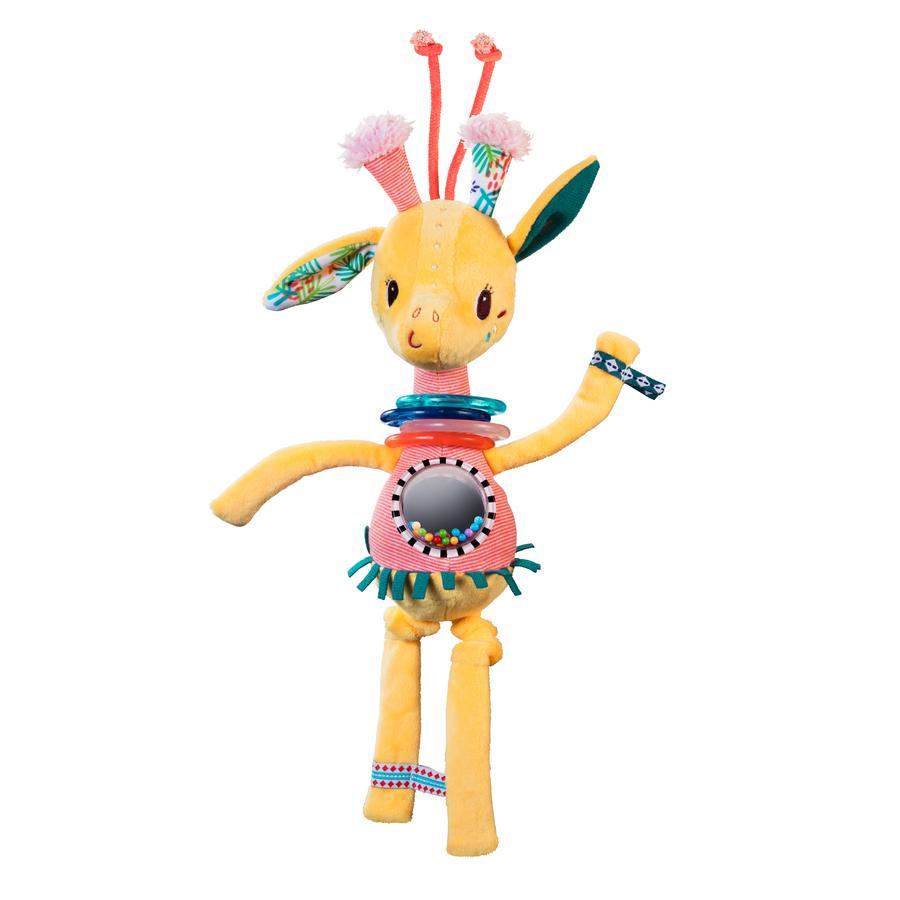 Lilliputiens Peluche hochet Zia la girafe dansante jaune