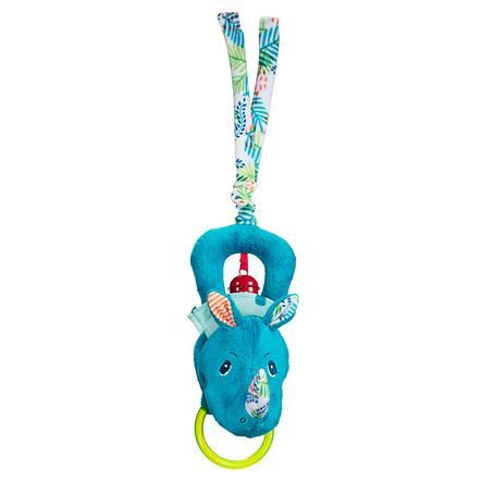 Lilliputiens Rammelaar met klokken om op te hangen - Marius de neushoorn