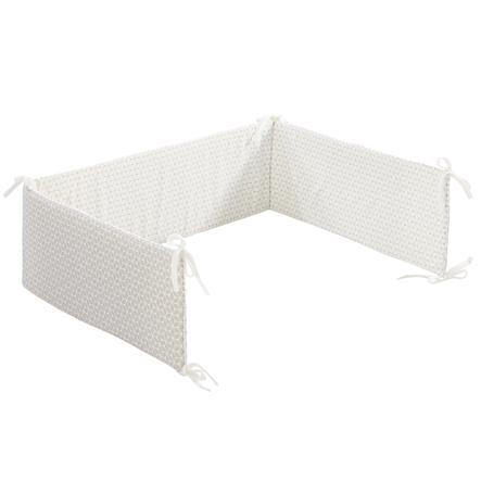 Alvi® Tour de lit enfant standard losanges taupe 180 cm
