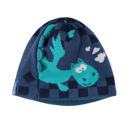 maximo Boys Beanie Dragon grafiet-blauw-blauw-zwaar